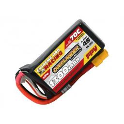 Overlander 1300mAh 4S 14.8v 70C FPV Lipo Battery with XT60 Connector - High Discharge