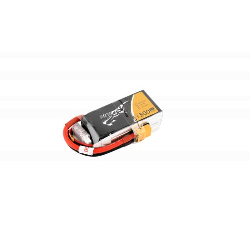 Tattu 1300mAh 4S 45C 14.8V Lipo Battery Pack with XT60 plug