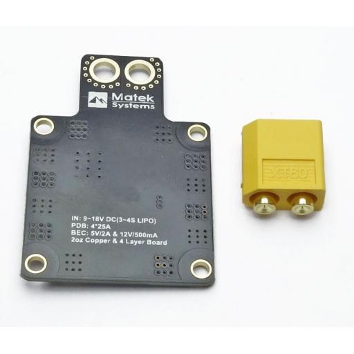 Matek XT60 PDB (5V & 12V BEC)